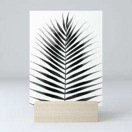 Palm Leaf Watercolor   Black and White Mini Art Print