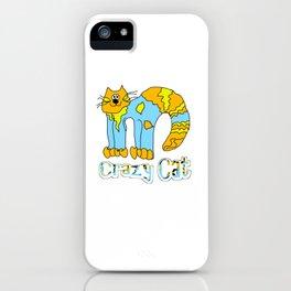 Crazy Cat Orange iPhone Case