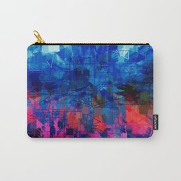 Bright Blues and Pinks Pattern Abstract Carry-All Pouch