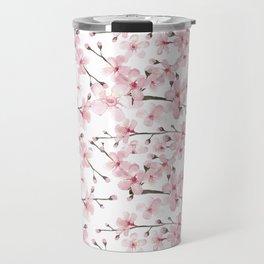 Watercolor cherry blossom Travel Mug
