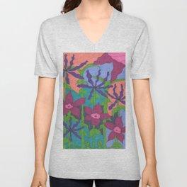 Twilight Violet Gardens Unisex V-Neck