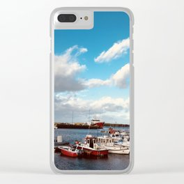 Tipography clouds Clear iPhone Case