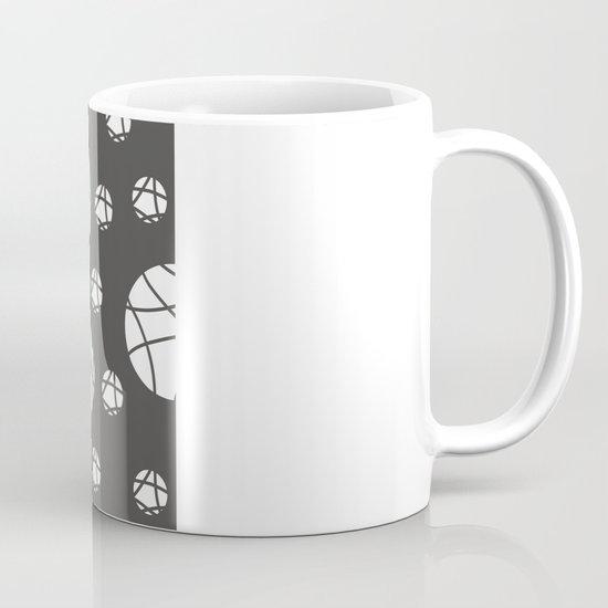 Broken Orbs (WhiteOnGray) Mug