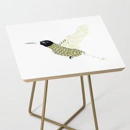 Abstract Hummingbird Side Table