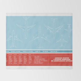 America aviation Throw Blanket