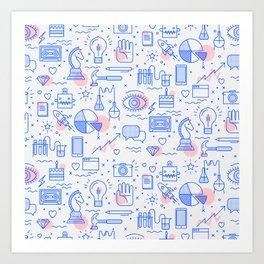 The fans pattern Art Print
