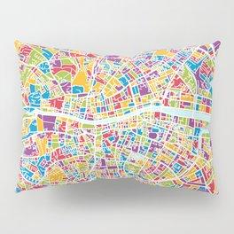 Dublin Ireland City Map Pillow Sham