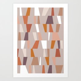 Neutral Geometric 03 Art Print