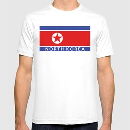 flag of North Korea T-shirt