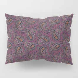Meredith Paisley - Eggplant Purple Pillow Sham