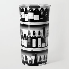 Wine Bottles in Black And White #society6 #decor Travel Mug