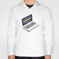 computer Hoodies featuring Computer Emotions by Andrew J. Nilsen  / Visualinguist