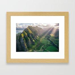 Jurassic Park Rays Framed Art Print