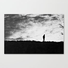 And the last man on Earth dragged on the light... Canvas Print