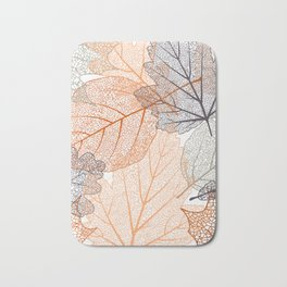 Autumn's Falling Leaves Bath Mat