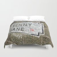 liverpool Duvet Covers featuring Liverpool Street Sign by Jonah Anderson