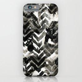 Black & White Chevron Ink Spill iPhone Case