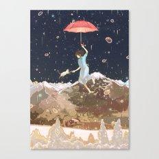 Rain returns Night Canvas Print