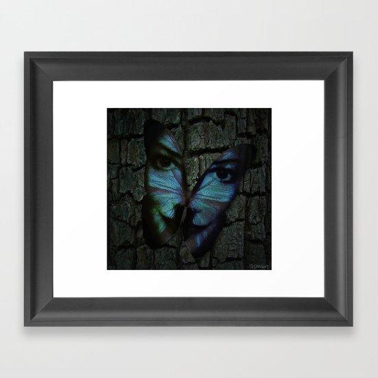 AM I A BUTTERFLY DREAMING I AM AN HUMAN Framed Art Print