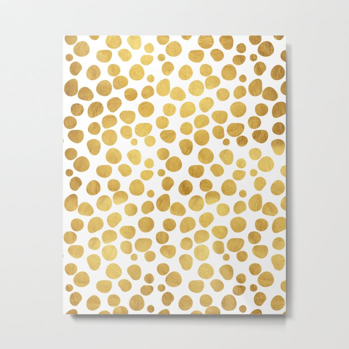 Gold Spots #society6 #decor #buyart Metal Print