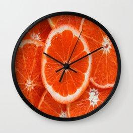 Orange-citrus-slices Wall Clock