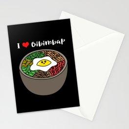 Kdrama Kpop Cute Korean Food I Love Bibimbap Stationery Cards