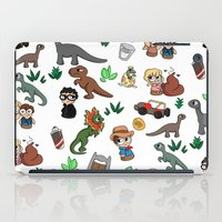 jurassic park iPad Cases featuring Jurassic Park Bits by Lacey Simpson