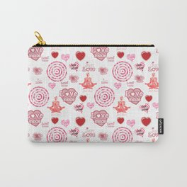 Cute set of hearts and symbols for a Valentine's day or wedding gift Carry-All Pouch