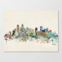 Canvas Prints featuring charlotte north carolina by bri.buckley