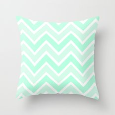 TWO-TONE MINT CHEVRON Throw Pillow