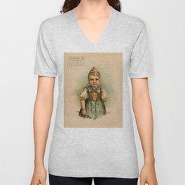 German Girl Maud Humphrey 1891 Unisex V-Neck