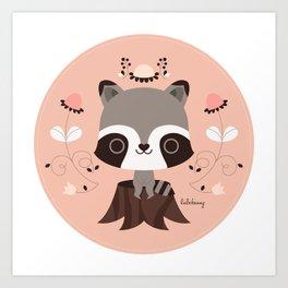 Spring Day Raccoon Art Print