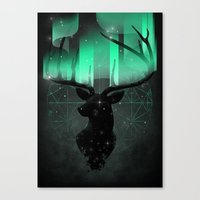 northern lights Canvas Prints featuring Northern Lights by angrymonk