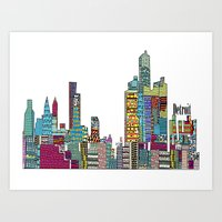 detroit Art Prints featuring Detroit by bri.b