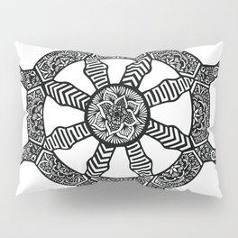 Zentangle - Dharma Wheel  Pillow Sham