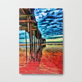 A pier's structure Metal Print