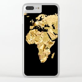 The World is Golden Clear iPhone Case