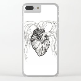 Butterfly Heart Clear iPhone Case