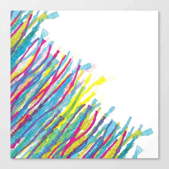 stripes in the wind Canvas Print