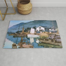 The Inland Sea Series, Second Series - Tomonoura Harbor - Digital Remastered Edition Rug
