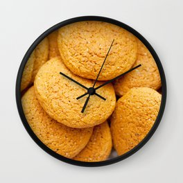 Delicious oatmeal cookies for breakfast Wall Clock