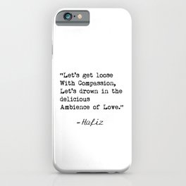 Hafiz quote awesome iPhone Case
