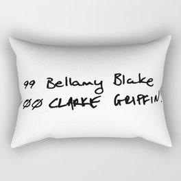 The List Rectangular Pillow