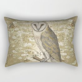 On the speculation of Keats , and the gaze of the owl. We are all in camouflage. Rectangular Pillow