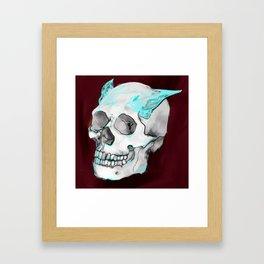 Skull wings Framed Art Print