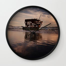 Peter Iredale Shipwreck at Fort Stevens State Park. Wall Clock