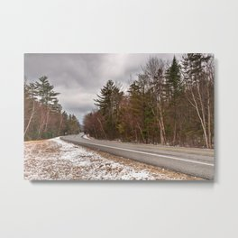 White Mountain Winter Road Metal Print