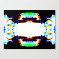 mercedes Canvas Prints featuring Artful Mercedes  by OneLaneDesigns