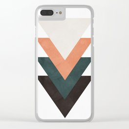 Abstract Triangles Clear iPhone Case