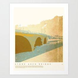 Stone Arch Bridge - Minneapolis, MN Art Print